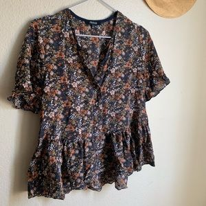 Silk Madewell Floral Top